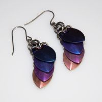 Niobium Scale Earrings View 1 by chef-chad