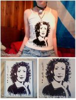 River Song -Silk Screen Print- by XenFeather