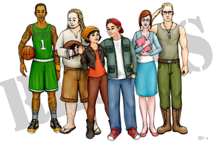 The Recess Gang by Just-AO