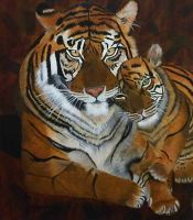 Momma and Baby Tiger by CAFuentesIII