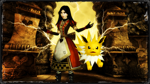 Alice and Jolteon by jagged66