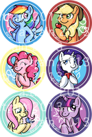 MLP Button set by Forever-Eternal