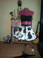 Moo cow handmade skirt :D by cockneynutjob