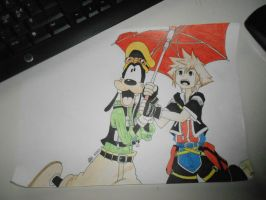 Kingdom Hearts Sora and Goofy by Karin75146
