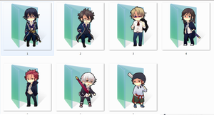 K Project Folder Icons by Ginokami6