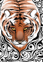 Year of the tiger tattoo by Canfas