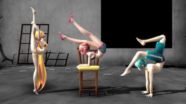MMD  Bendy Vocaloids(+Pose Pack DL) by myteddygosmo