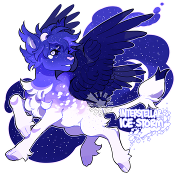 Interstellar Ice Storm Auction (closed) by tyronniesaur