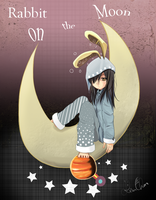 Rabbit on the Moon by Risu-ruru