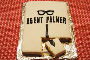 The second piece of An Agent Palmer Cake by agentpalmer