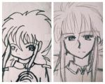 Kurama: Then vs Now by FKiara0630