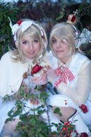 Rin and Len Kagamine - Roses in the snow by Bunnymoon-Cosplay