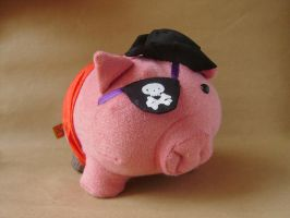 pirate pig by NataliaVulpes