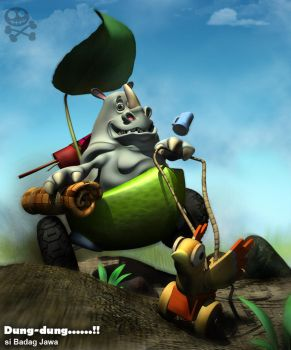 Dung-Dung the Javanese Rhino by ToxicBoy-3D