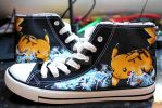Hand Painted Pikachu Shoes by Kloofcat