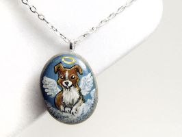 Border Collie Pendant Necklace by sobeyondthis