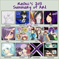 Rashii's 2011 Summary of Art by miru-kai