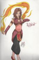 Fire Bender: Rebekah by BlackRoseDestiny