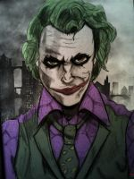Joker Sketch by Wessel