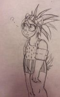 Child Mindy in a Watermelon suit. :3 by AnthroGalactic