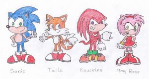 Sonic and Friends by TheAwesomeWorld