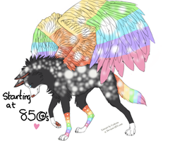 Rainbow Winged Adopt -CLOSED- by KelsysAdoptables