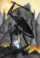 Morgoth and Fingolfin by Revenant42