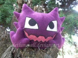 Pokemon Haunter plushie by VioletLunchell