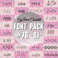 FONT PACK #76 by ergohiki