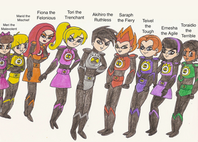 The Cleverness Unleashed - Atomic Sentai Psychos by Magic-Kristina-KW