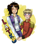 [APH] New OC/Canon Ship aww yeeaahh by melonstyle