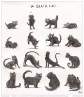 Inktober Cats by emla