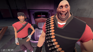 Scout and Heavy by JhonyHebert