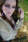 Fringe and Feathers Self Port by BlackUniGryphon