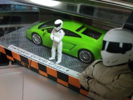 The Stig with very green lambo by panda180