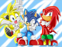 sonic team by andreahedgehog