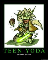 Teen Yoda Demotivator by novaburst16