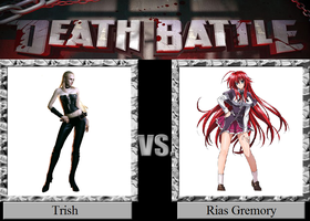 Trish vs. Rias Gremory by JasonPictures