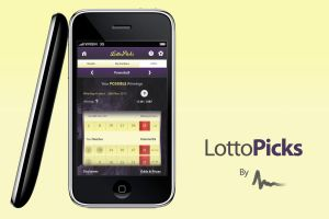 LottoPicks - Iphone Application Interface by Areeb89