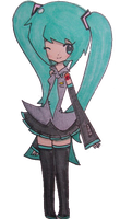 Miku by DuckyDeathly