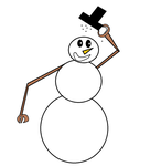 Snowman says, Hello! by Cybertoy00