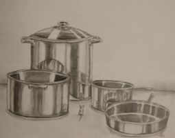 Pots, Pans, and a Mouse! by LinzMW