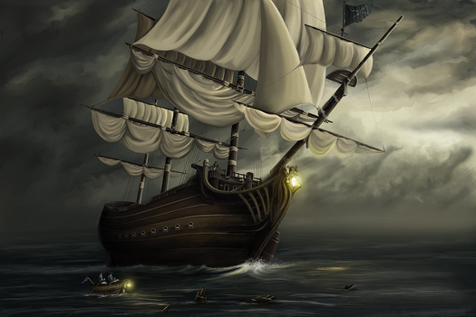 And Ship Without A Name by Barrteq
