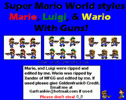 Super Mario World Gun Sprites by GoldenfrankO