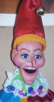 Mr punch marionette face by spookysculpter