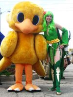 AN11 Rydia and Chocobo by animenorth2011
