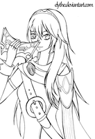 - FREE LINEART - Lucina by Elythe