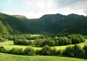 Green Enchanting Valley by Navanna