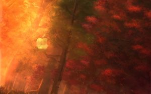 Fall Trees Mac OS X by Ghostwalker2061