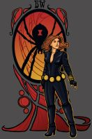 Black Widow Nouveau by khallion